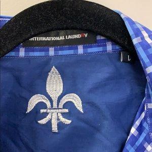 international laundry Shirts - International Laundry blue and white dress shirt